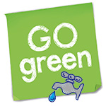 Go green logo of water